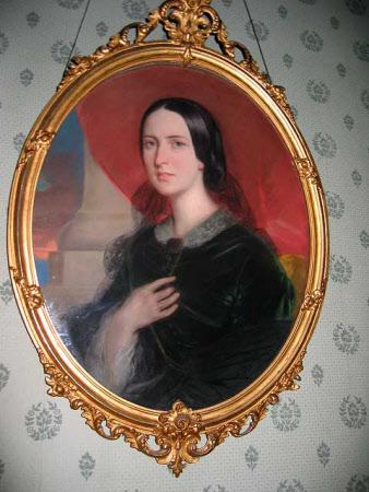 Matilda Blanche Crawley-Boevey, Mrs William Gibbs (1817-1887), aged 22