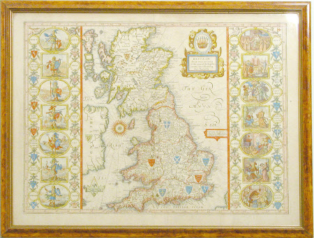 Britain as it was devided in the tyme of the Englishe Saxons especially during their Heptarchy ...