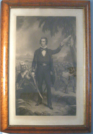Captain Sir William Peel (1824-1858), leading the Naval Brigade into action, India (after John ...