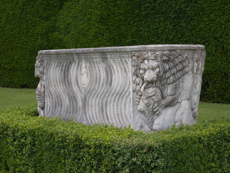 Sarcophagus with Lions and Oxen