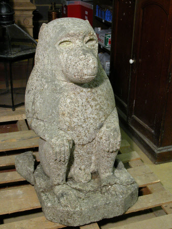 Baboon statue