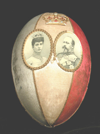 Cardboard Easter Egg to commemorate the coronation of King Edward VII (1841–1910) and Queen ...