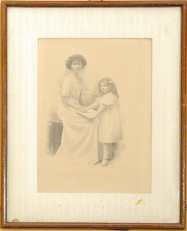 Unknown lady and child