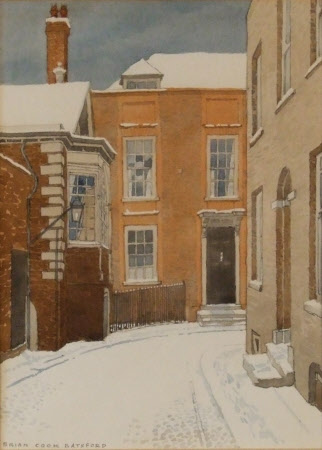 Lamb House, Rye, East Sussex, in the Snow