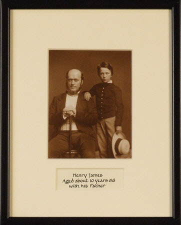Henry James (1843-1916) aged about 10 with his father Henry James (1811-1882)