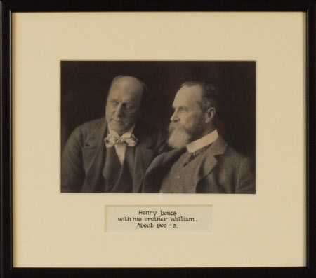 Henry James (1843-1916) and his brother William James (1842-1910)