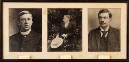 Left to right: Robert Hugh Benson (1871 - 1914),  Arthur Christopher Benson (1862-1925) and  Robert ...