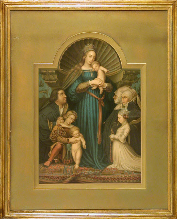 Altarpiece with the Madonna of Mercy and the Basle Burgomaster Jacob Meyer 'zum Hasen' and his ...