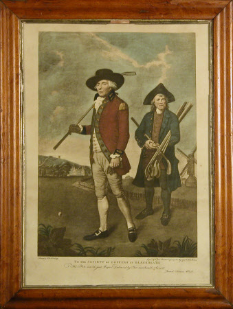 Captain of the Blackheath Club, and his Caddie, a Greenwich Hospital pensioner (after Lemuel ...