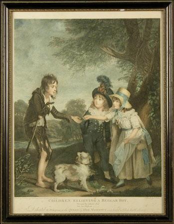 Children Relieving a Beggar Boy (after Sir William Beechey)