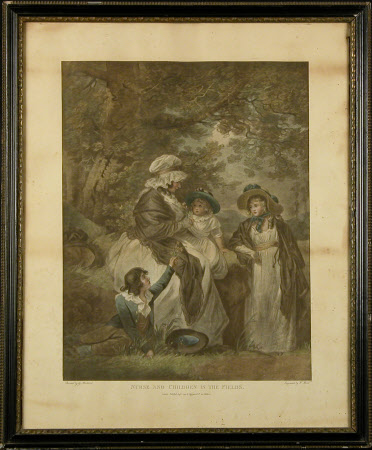 Nurse and Children in the Fields (after George Morland)