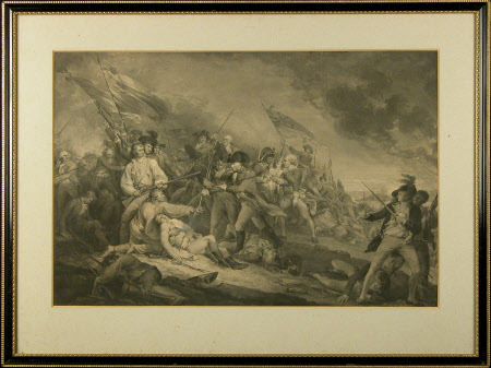 The Death of Dr. Joseph Warren (1741–1775) at the Battle of Bunker Hill (after John Trumbull)