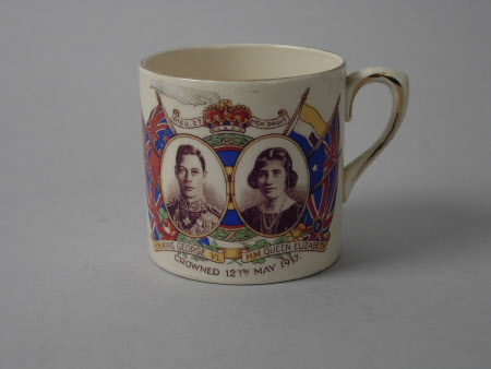Mug commemorating the Coronation of King George VI (1895-1952) and Queen Elizabeth (1900-2002)