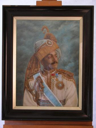 A Maharaja (possibly of Benares)