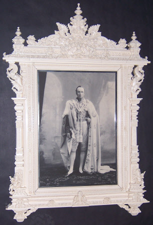 An ivory frame, containing a photograph of George Nathaniel Curzon, 1st Marquess Curzon of ...