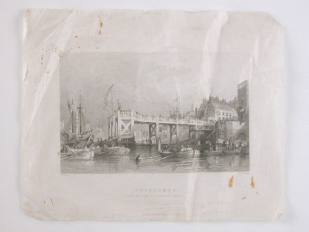 Gravesend with the Pier as Originally Erected (after Thomas Allom)