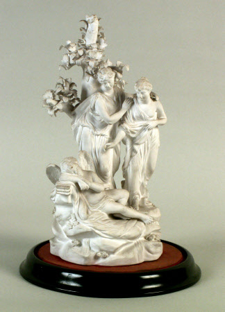 Cupid and nymph group