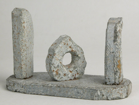 A Model of the 'Men an Tol' Ritualistic Prehistoric Stones in Madron Parish, Land's End