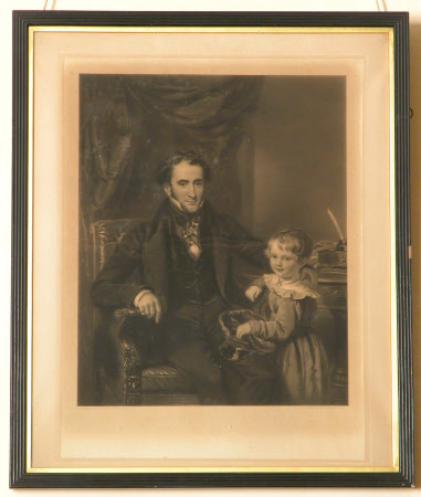 Sir George Crewe, 8th Bt. (1795 – 1844) and his Son, later Sir John Harpur Crewe, 9th Bt ...