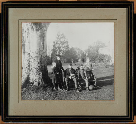 Sir George Otto Trevelyan, 2nd Bt (1838-1928) with Caroline Philips, Lady Trevelyan (1849-1928) and ...