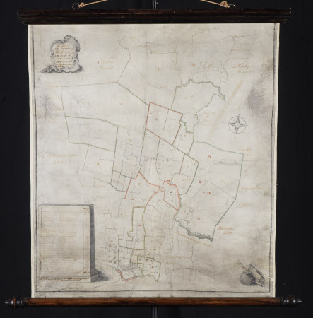Map/plan of the estate of Wallington, Northumberland belonging to Sir William Blackett, Bt.: 1742