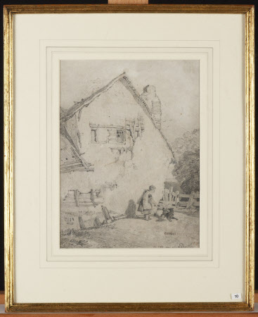 View of a Cottage with Figures