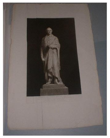 A statue of  The Rt Hon. Spencer Perceval MP (1762-1812) by Sir Francis Legatt Chantrey RA