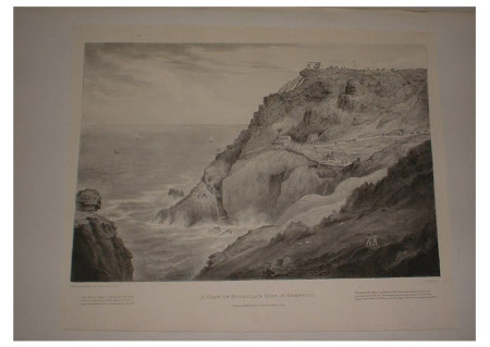A view of the Botallack Mine in Cornwall in 1822