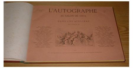 L'Autographe au Salon de 1864 et dans les Ateliers