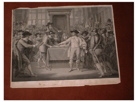 Oliver Cromwell dissolving the Long Parliament, 20 April 1653