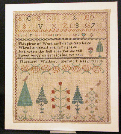 Sampler, Alphabets, trees and flowers