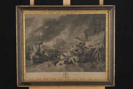 The Battle of La Hague (after Benjamin West)