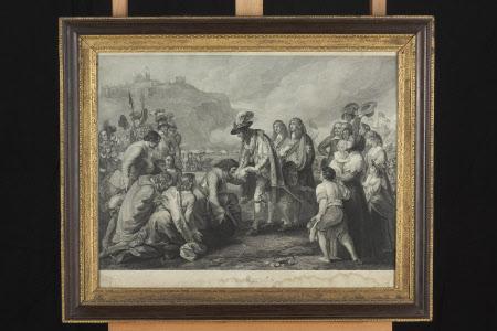 General George Monck, 1st Duke of Albemarle KG (1608-1670)  Receiving King Charles II (1630-1685) ...