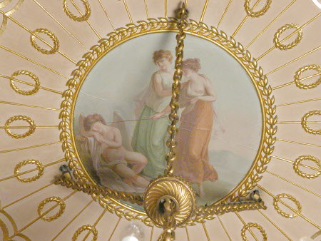 Cupid awakened by Two Nymphs, 'Dormio innocuus' (My sleep is harmless, you wake me at your peril)