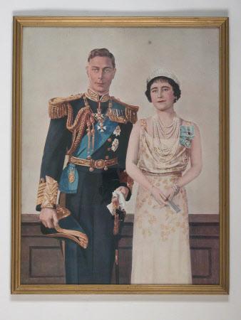 Coronation portrait of  King George VI (1895-1952) and Queen Elizabeth (1900-2002)