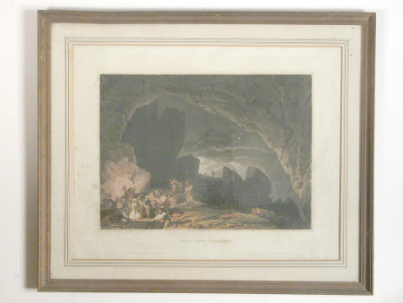 Interior of Peaks Hole, Derbyshire (after Philip James de Loutherbourg)