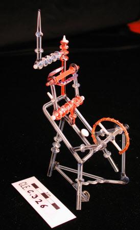 Glass spinning wheel
