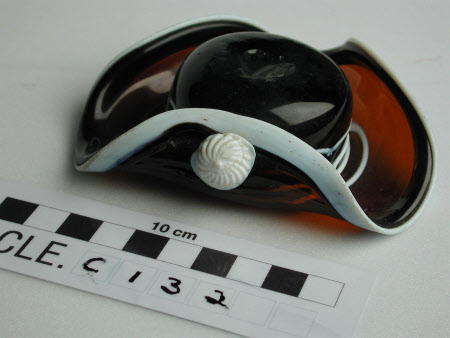 Glass tricorn hat