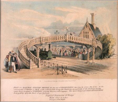 Plan of a Railway Station Bridge (fanciful design)