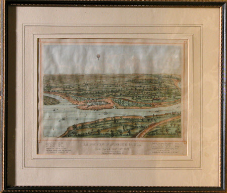 Balloon view of Avonmouth 1877