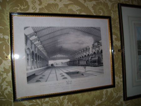 Interior of Great Western Railway Station at Bristol