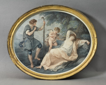 Shepherd, Shepherdess and Cupid