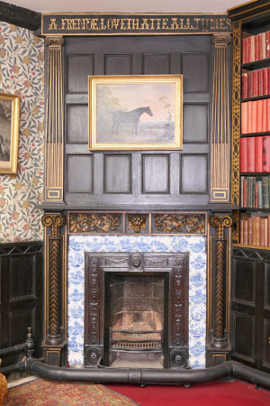Chimneypiece, Library, Speke Hall