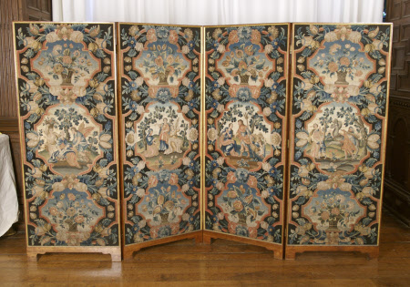 'The Chicheley Hall Four Leavd Walnuttree Needlework Screen'