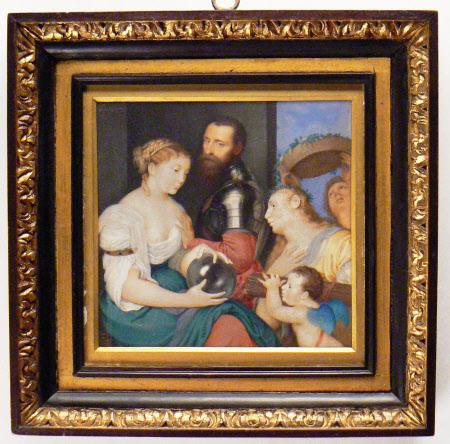 The 'D'Avalos Allegory' (Alfonso d'Avalos, Marchese del Pescara and del Vasto (Guasto) (1502 -1546) ...