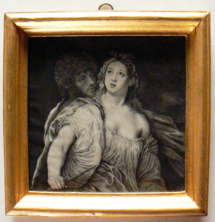 Tarquin and Lucretia (after Jacopo Palma Negreti, known as Palma Vecchio)