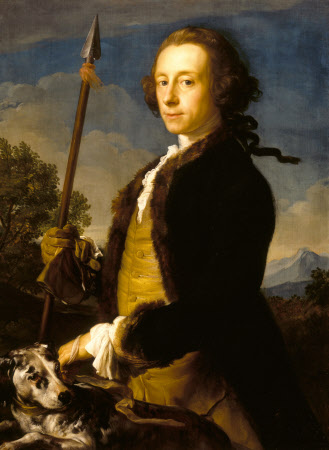 Sir Matthew Fetherstonhaugh, 1st Bt, MP (1714-1774) as a Hunter with a Wild Boar Spear