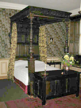 An oak tester bed, English, circa 1640.