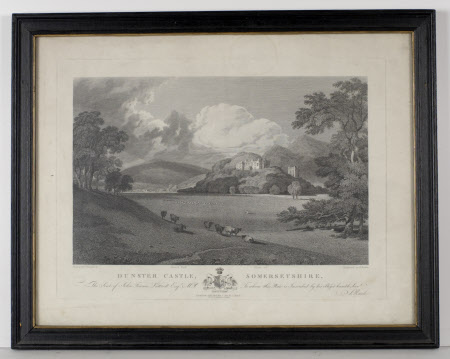 North east view of Dunster Castle, Somerset (after Joseph Mallord William Turner, RA)