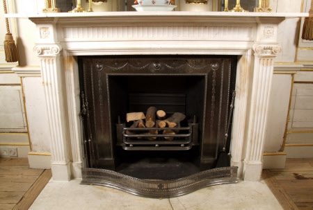 Chimneypiece with Ionic Pilasters, Dining Room, Uppark